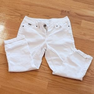 White cropped denim pants THE LIMITED size 4